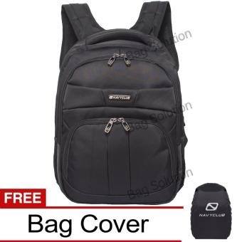 Navy Club Tas Ransel Laptop 5902 Backpack Up to 15 inch Bonus Bag Cover - Hitam