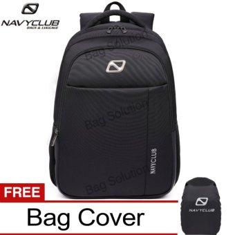 Navy Club Tas Ransel Laptop Backpack Up to 15.6 inch Anti Air 62060 - Hitam Bonus