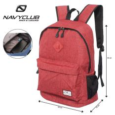 Navy Club Tas Ransel Laptop Kasual EIBB Backpack Up to 14 inch Daypaack - Merah