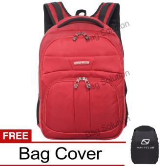 Navy Club Tas Ransel Laptop Tahan Air 5902 Backpack Up to 15 inch Bonus Bag Cover