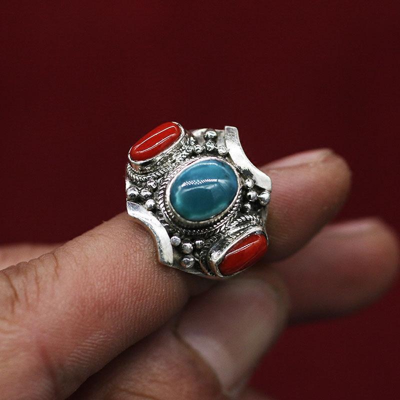 Nepal buatan tangan Tibet cincin