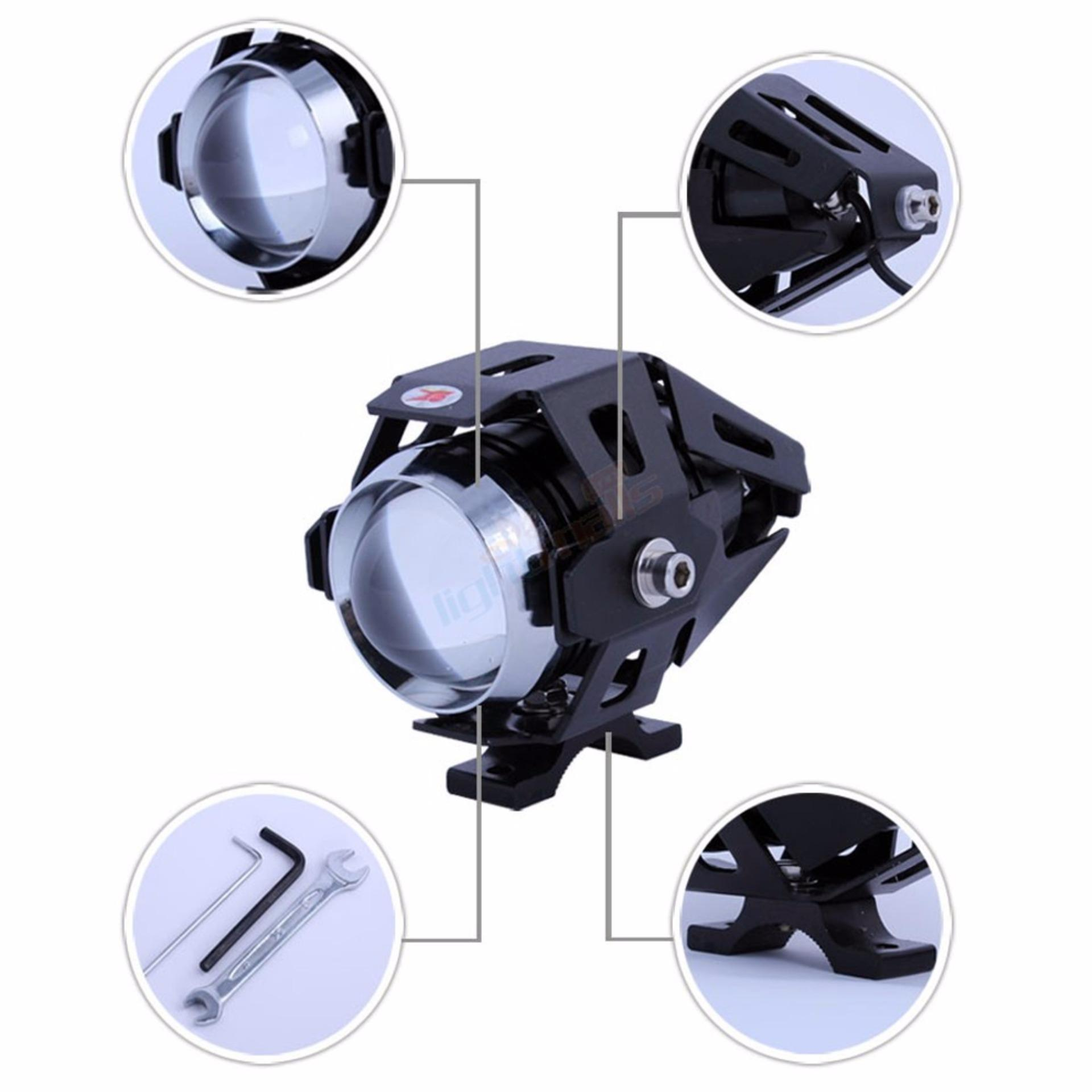 Harga Terendah New Lampu Motor Transformer Sorot Led Tembak Cree U5 Light Headlight 3000 Lumens Bergaransi
