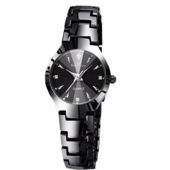 Baru Merek Mewah Jam Tangan Fashion Pria Kekasih Penuh Stainless Steel Arloji Jam Tangan Wanita Pasangan