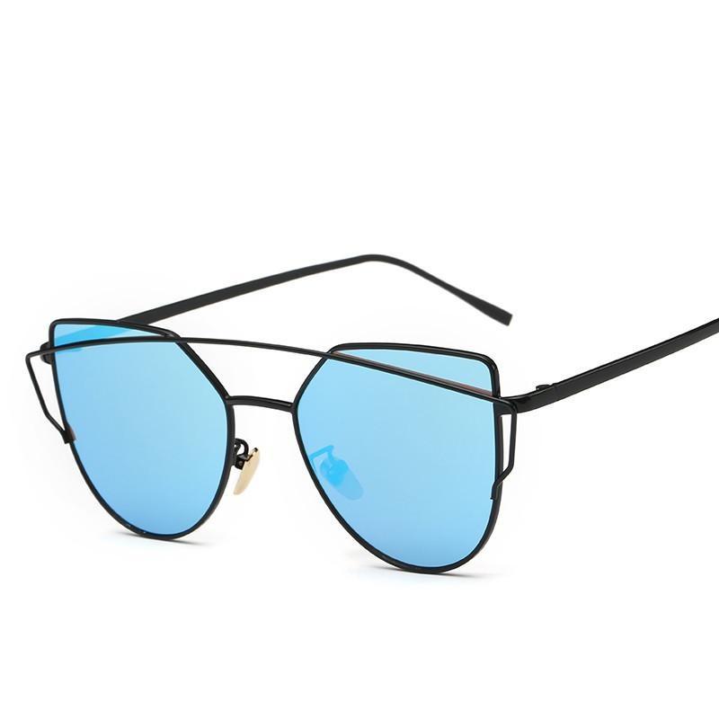 ... New Metal Frames High Definition Sunglasses Trendy Ladies Sunglasses Fashionable Color Film Sunglasses - intl ...