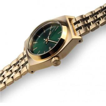 NIXON Small Time Teller All Gold / Green Sunray Jam Tangan Women A3991919 - Stainless Steel - Silver