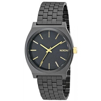 Nixon Time Teller Watch - Mens Matte Black/Gold Accent, One Size - intl
