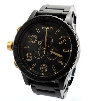 Nixon Watch 51-30 Chronograph Black Stainless-Steel Case Stainless-Steel Bracelet Mens NWT + Warranty A0831041