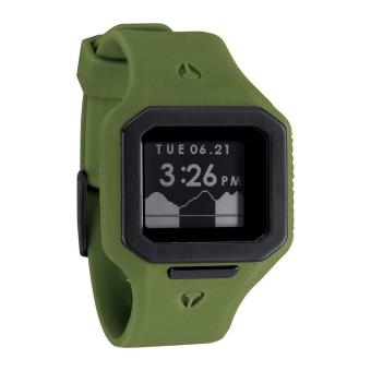 Nixon Watch Supertide Green Resin Case Silicone Strap Mens NWT + Warranty A3161085