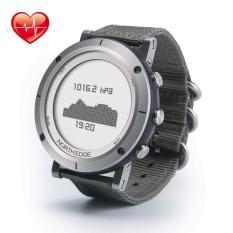 NORTH EDGE RANGE Heart Rate Altimeter Barometer Compass Stopwatch Fishing Climbing Outdoor Watch Silver-Intl