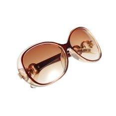 Nuansa Retro Vintage Wanita Terlalu Gede Eyewear Desainer Kacamata Hitam Klasik Coklat