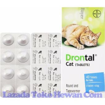 Obat Cacing Drontal Plus for Cat 8 tablet (1 papan)