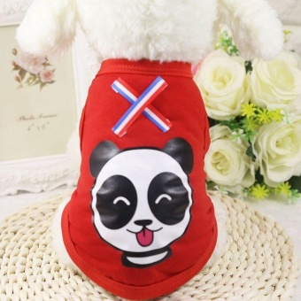 Ocean New Pet Apparel Pet vest Dog Clothes Lovely Shirts(Red-S) - intl