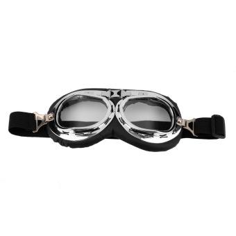 harga Oh Panas Anti Sinar UV Keselamatan Sepeda Motor Helm Vespa Pilot Kacamata Motorcross Putih Lazada.co.id