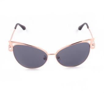 OH Women Lady Cat Eye Retro Vintage Metal Frame Sunglasses UV Eye Protect Gold & grey