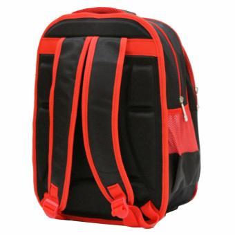 Onlan Tas Ransel Anak Sekolah SD Import Motif 6D Timbul Soft Hard Cover - Red - 3