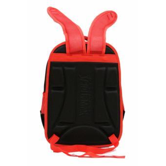 Onlan Tas Ransel Anak Sekolah SD Import Motif 6D Timbul Soft Hard Cover - Red - 4