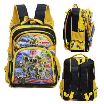 Onlan Tas Anak Sekolah SD Karakter Robot Transformers 5D Timbul Hologram Import - Yellow