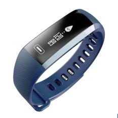 Ooplm bluetooth gelang pintar jam tangan gelang, nirkabel tahan air Fitness Pedometer olahraga aktivitas kalori Counter dengan Heart Rate tekanan darah kesehatan tidur Monitor untuk Iphone IOS Android Smartphone