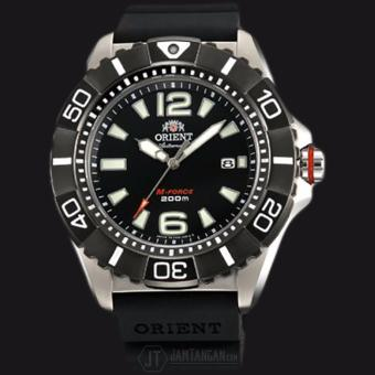 Orient M-Force SDV01003B Automatic Titanium Black Dial Rubber Strap - Jam Tangan Pria