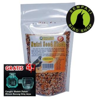 Pakan Burung Finch Blackthroat Sanger Mozambik Harian Nutri Seed Finch Nutribird (Bonus 4 pcs cepuk wadah pakan minum burung oriq jaya)
