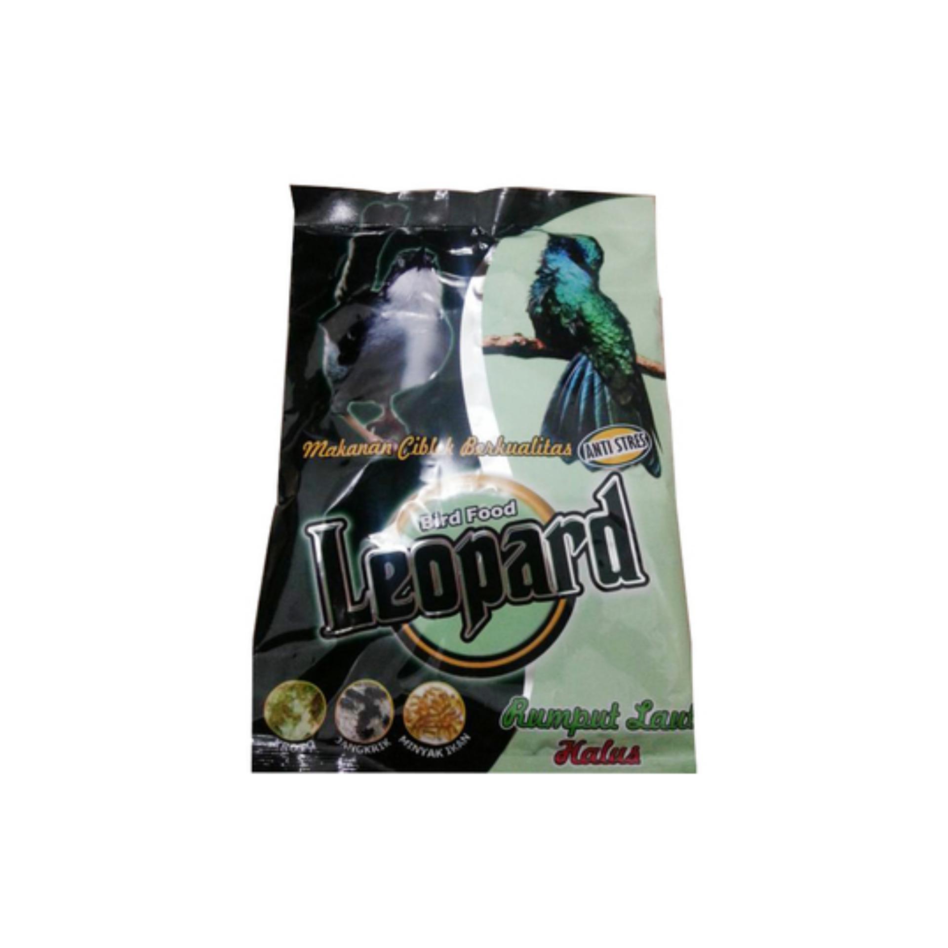 pakan burung leopard hijau (rumput laut halus)