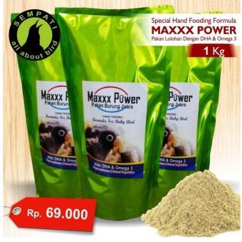 Pakan Burung Lovebird Kenari Parkit Hand Feeding Maxxx Power 1 Kg