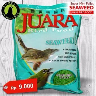 Pakan burung pleci kacer mini seaweed juara japfa