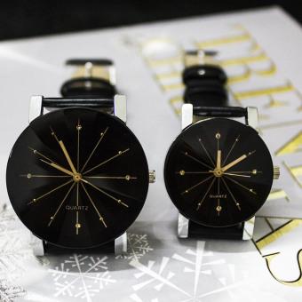 Pasangan PU arloji jam tangan kulit pasangan kekasih hati - ?