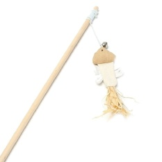 PentaQ Length Mouse Pet Interactive Novelty Wand Feather Toy CatPlayteaser Ball Xy - intl
