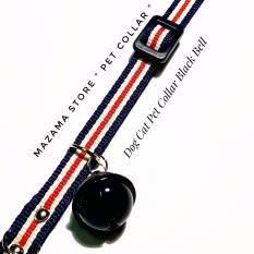 Pet Collar Dop Bell Black / Collar / Pet / Dog / Cat / Kucing / Anjing / Hobby / Tali Leher / Kalung / Pet Shop / Grosir / Mazama