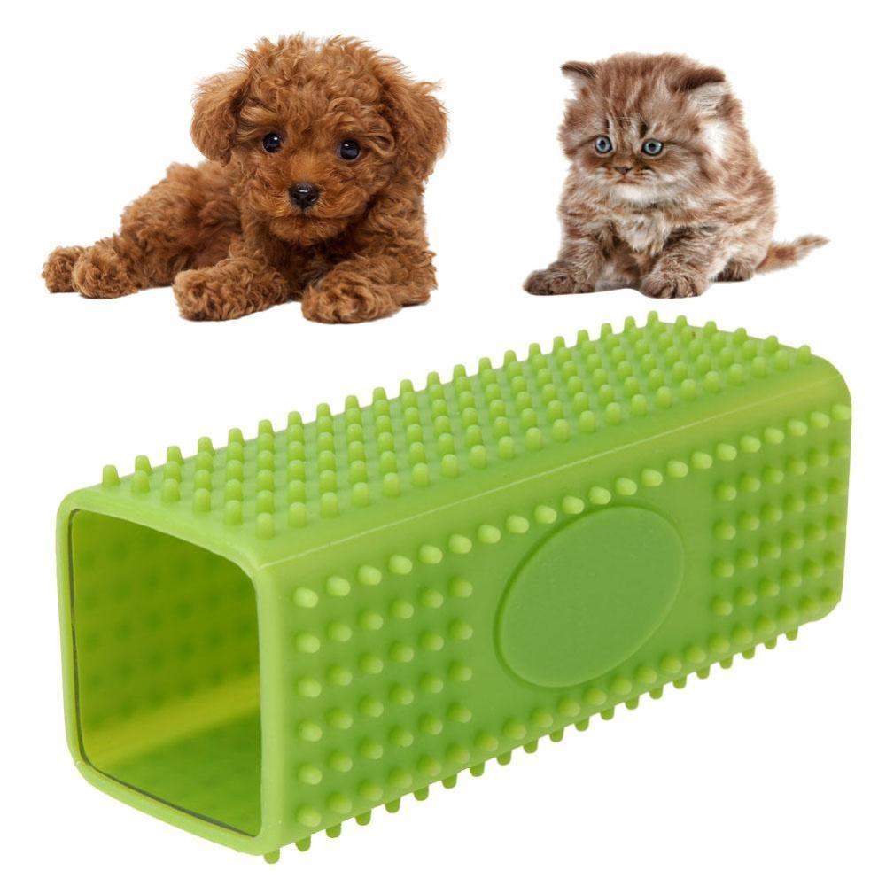 Pet Dog Puppy Cat Bath Brush Comb Soft Silicone Hair Removal Tool Green - intl