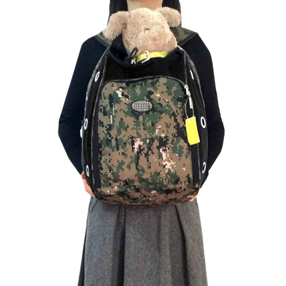 Pet Front Carrier Dog Cat Puppy Travel Bag Mesh Backpack Camouflage - intl