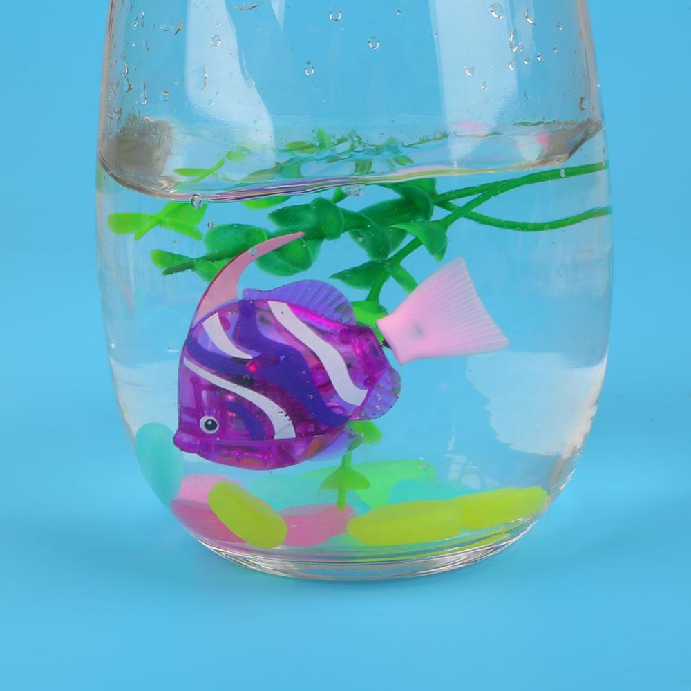 Pet Luminous Electron Fish Robots Power-Driven Aquarium Fishbowl Decoration - intl