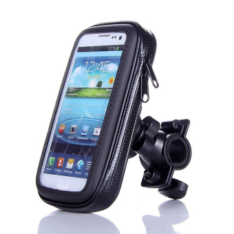 Harga Phone Holder Waterproof Holder Bag / Holder Motor Anti Air for smartphone 5 inches - Hitam