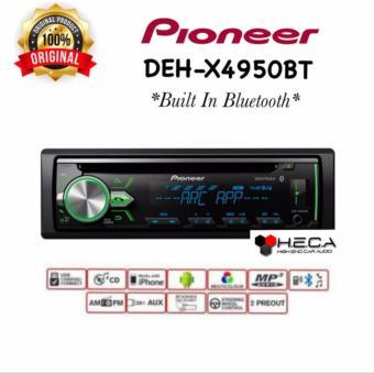 Pioneer DEH-X4950BT Head Unit Single Din Tape Audio Mobil ( Bluetooth )