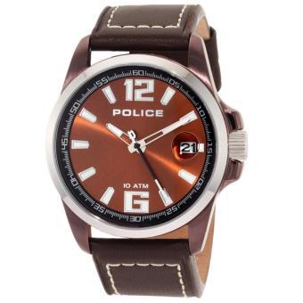 police 12591JSBNS/65 - Silver / Coklat
