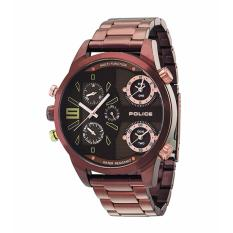 POLICE PL.14374JSBN/12M - Copperhead - Chronograph - Dual Time - Jam Tangan Pria - Bahan Tali Stainless Steel - Coklat