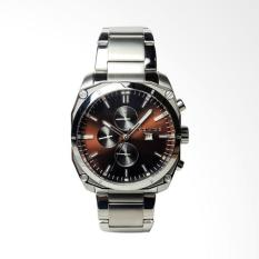 Police Stainless Steel Chronograph Jam Tangan Pria - Silver PL.14099JS/12M