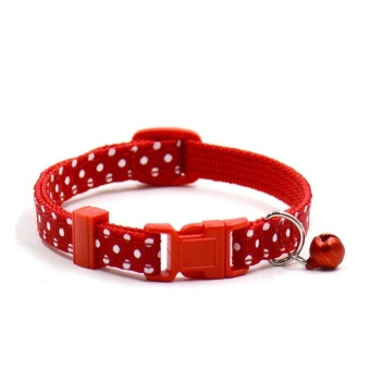 Polka Dot Cat Collars Pendant Necklace for Dog Adjustable DogCollar Colliers - intl
