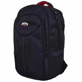 Polo Black Vertical Laptop Raincover Backpack / Tas Ransel Laptop Pria