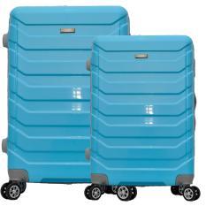 Polo Team Tas Koper Hardcase 4 Roda Putar SET Size 20 + 24 inch 8705- Biru