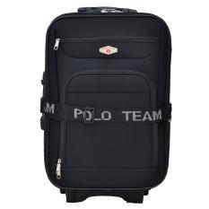 Polo Team Tas Koper Kabin 093 - 20 inch Gratis Pengiriman JABODETABEK - Hitam
