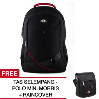 Polo USA Baracuda Tas Laptop Backpack + Raincover + FREE Polo Mini Morris