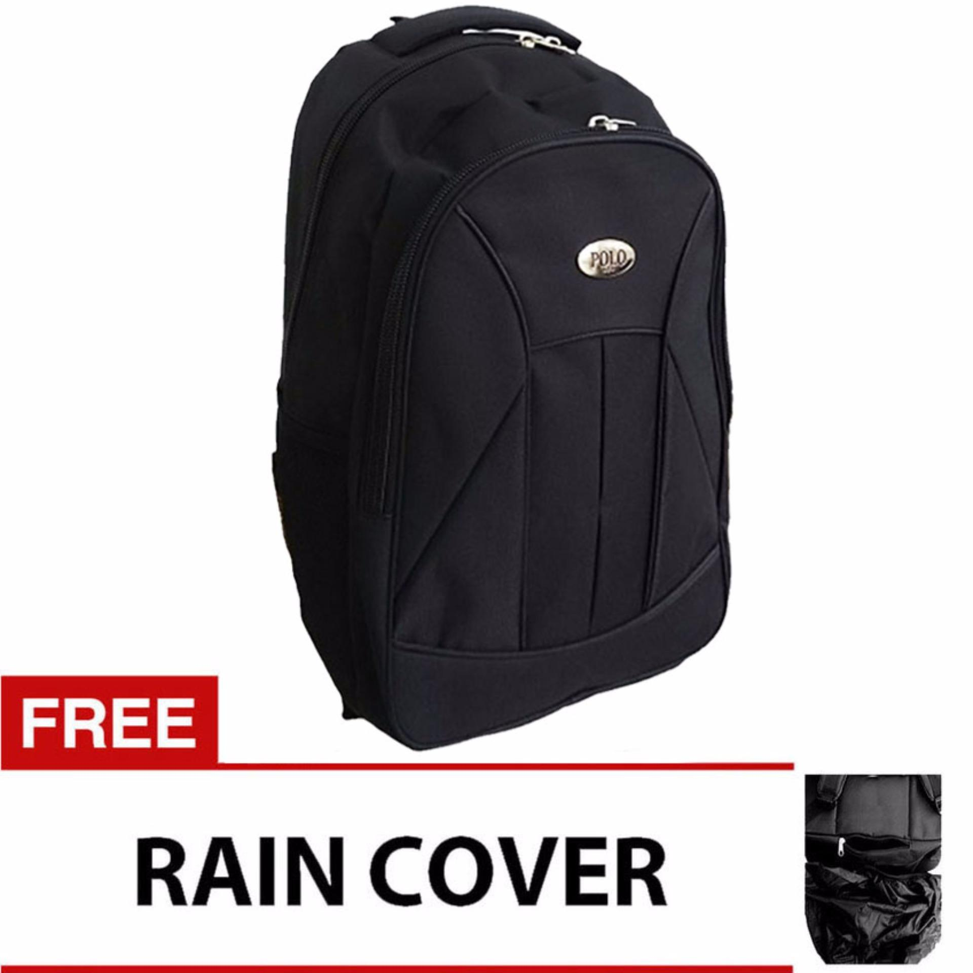 Free Mini Poloclub Pouch Selempang3 Source · PoloClub Basic Black Laptop Raincover Backpack .