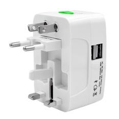 Portable Universal International Travel Charger Power Socket Adapter Converter US UK AU EU Plug with Dual USB Port - intl