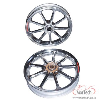Power Velg Pelek Racing Tapak Lebar Mio M3 125 cc Palang 9 Chrome