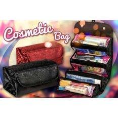 Prime Roll and Go Cosmetic Bag - Tas Kosmetik Travel - Hitam / Merah