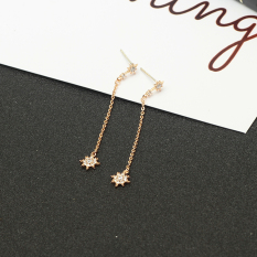 PRODUCT TIDE Jianyue perempuan style sterling silver anting paragraf panjang rumbai anting