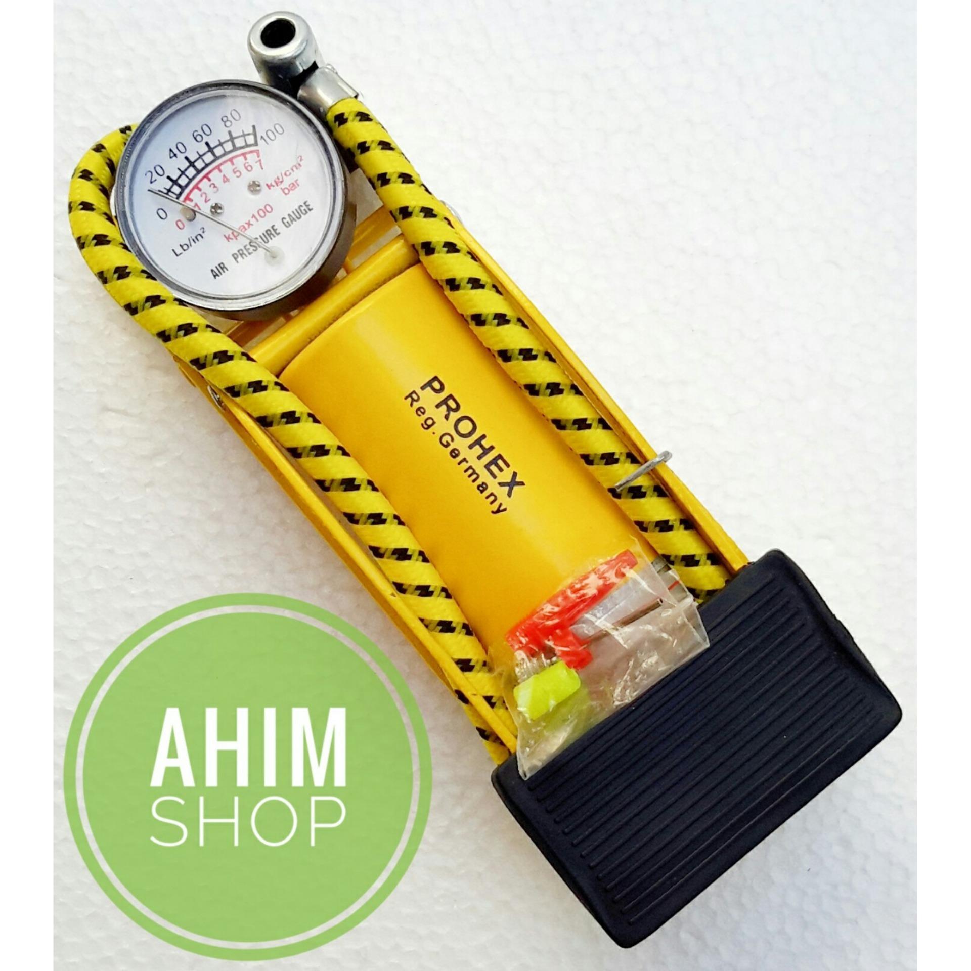 Price Checker Prohex Foot Pump Manual Multifungsi Pompa Angin Tabung Ban Kaki Injak Darurat Sepeda Motor
