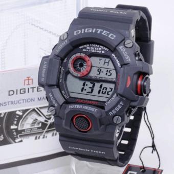 PROMO Digitec DG-2064T AQUAMAN Original - Anti Air - Jam Tangan Pria Sporty - Rubber Strap - Hitam Merah